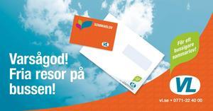 VL:s annons om busskort för ungdomar.