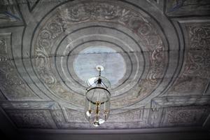 Taket som Jan själv målat.