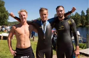 Topp 3 herrar i Vansbro 10K 2018. Foto: Mickan Palmqvist
