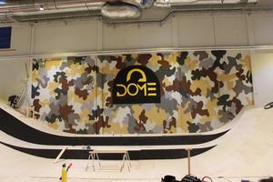 Dome Adrenaline Zone är fullständigt namn för centrat. Här en graffitimålning av lokala Tenth Crew.
