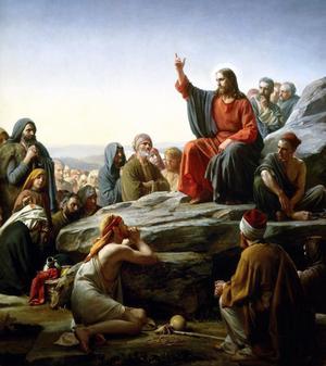 Jesus ger sin berömda