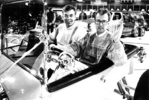 1987 hälsade Christer Ekman och Agne Ottosson välkomna till den elfte upplagan av Motormässan i Östersund.