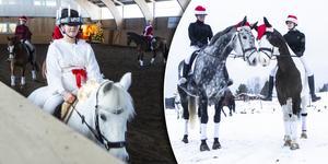 Eleverna på Naturlära bjöd på en annorlunda luciashow från hästryggen.