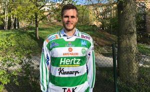 Jesper Jonsson i VSK-tröjan. BILD: VSK Bandy