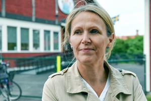 Den som fick äran att klippa bandet till den nya förskolan var Susann Lindblad (C), ordförande i utskottet för lärande.