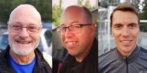 Tor Trondset, Mikael Nyström och Johan Gustafsson. Foto: Privat