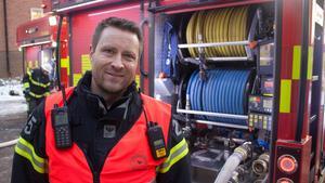 Anders Högosta, brandman på Räddningstjänsten Dalamitt.
