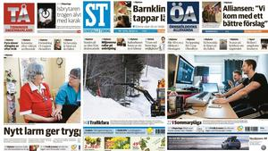 Totalt ökar de tre tidningarna i Västernorrland upplagan.