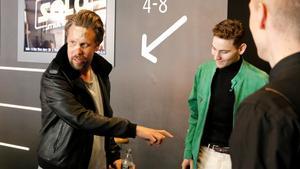 Dagen efter fallet var Hammar på plats i Västerås för att promota sin nya film.