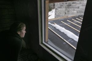Utbyggnaden mellan garaget och bostadshuset kommer inrymma hall och badrum med tvättstuga.
