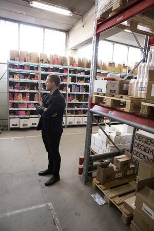 Rickard Lyko på Lykos lager i Vansbro.