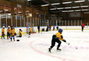 Före A-lagets träning i lördags var ett av föreningens ungdomslag på isen.