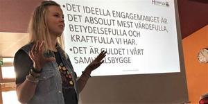 I Strömsund föreläste Kristina Ernehed om föryngringsprojektet med Heimbygda. Foto: Marie Haglund