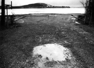 Isen låg på Storsjön i februari 1992 men på många håll var den inte tjock nog för att säkert kunna köra på.