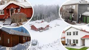 Här ses några av de mest klickade dalaobjekten på Hemnet under vecka 2. Fler bilder på samtliga hus på topplistan kan ses i TV-inslaget här intill.