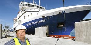Peter Lundman är driftchef på Kapellskärs hamn.