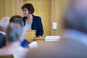 Marie Centerwall (S) var nöjd med att den nya budgeten gick igenom utan ändringar.