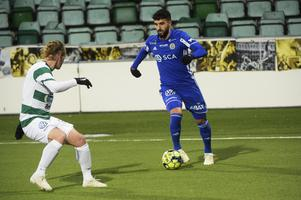Eddahri under försäsongsmatchen mot Västerås.