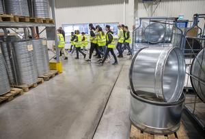 Grundskoleelever i Krokom besökte en rad tillverkningsföretag i kommunen.