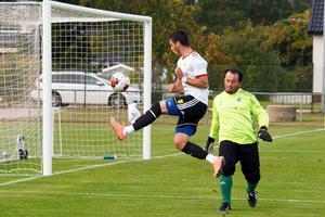 Kristian Horobei spelade på topp i första halvlek och hade flera chanser. Det blev ett mål i protokollet.