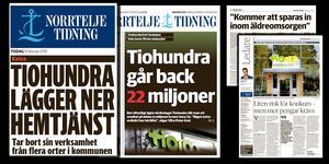 Tiohundras ekonomiska kris – Rubriker från Norrtelje Tidning under 2019.