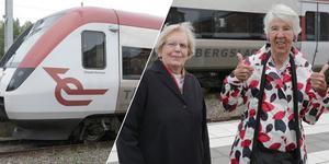 """""""Japp, där satt den!"""" jublar de arga tanterna Inger Montelius och Stina Myhrman som i två år efterlyst samma villkor för tågresor i länet som med buss."""