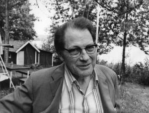 Nobelpristagaren Harry Martinson var en stor beundrare av Ray Bradbury och delade hans pessimistiska syn på framtiden. Foto: Jan Collsiöö / Pressens Bild / SCANPIX