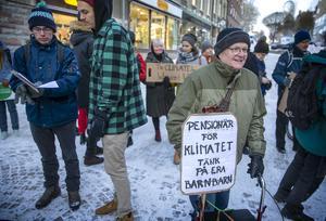 Pensionären Anders Westin från Bräcke kommer klimatstrejka så länge det behövs.