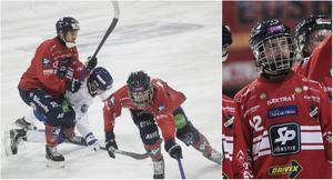 Jocke Svensk har tillsammans med Mattias Larsson (längst till vänster) och Tommi Määttä stängt dörren i slutspelet.