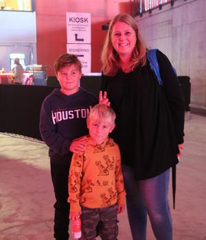 Jessica Eriksson har tillsammans med sina söner Elis och Malte gått på ett liknande event i vintras. De säger att det är upplevelsen som är det speciella med dessa event.