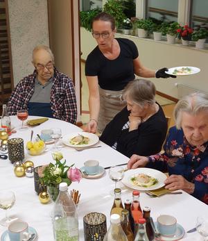 Maria Sellberg är en av de anställda på Kulinariet som såg till att kvällen på Skedvigården blev lyckad.