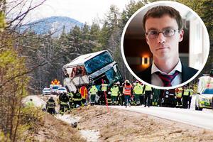 Bussolyckan och Mikael Bäckström, åklagare i fallet.Foto: Mikael Andersson och Pelle Zackrisson