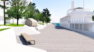 Kanske hamnens omtvistade betongklippor en dag också lyfts upp som bevaransvärda arkitektoniska element, skriver Mats Wedberg. Illustration: Sydväst arkitektur och landskap