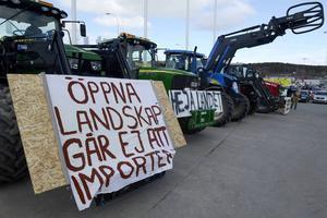 Bönderna protesterade under långfredagen.