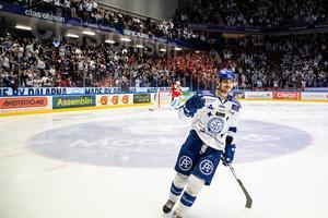 Valkvae-Olsen fick sätta Leksands andra mål efter ett straffslag. Bild: Bildbyrån/Daniel Eriksson.