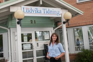 Fredrika Hillervik, chefredaktör och ansvarig utgivare på Nya Ludvika Tidning.