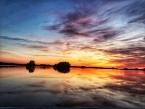 Solnedgång över Lundbosjön Foto: Isabelle Bergman