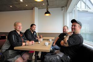 Sandra Motin, Andreas Henker, Stefan Dolk och Alexander Motin har besökt restaurangen några gånger per vecka sedan den öppnade.