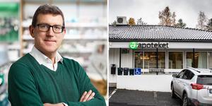 Magnus Frisk, kommunikatör på Apoteket AB. Fotomontage: Apoteket/Anders Olsson