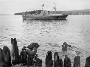 Sökningar i Sundsvallsfjärden efter att Johan Asplund försvann i november 1980.
