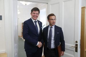 Riksdagens talman Andreas Norlén har passat över bollen till Ulf Kristersson (M). Foto: Fredrik Persson  / TT