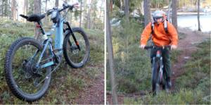 Christoffer Nilsson har ersatt skidbackarna med skog och mountainbike med eldrift.