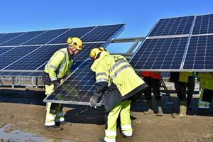 En satsning på solpaneler vill Vänsterpartiet se i Örebro.  Bilden är ifrån Östersund.