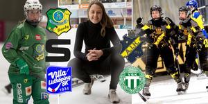 Bandypuls livesänder elitserien dam – SAIK, Skutskär med Angelica Östlund, VSK med Malin Persson, Villa Lidköping och AIK med Olga Rodionova. Bild: Arkiv