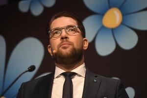 Jimmie, Åkesson, partiledare för Sverigedemokraterna.