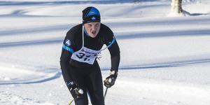 Gustav Rautila från Bergeforsen närmar sig mål.