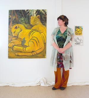 Elsie Bergs utställning är ett allkonstverk med drömtema.