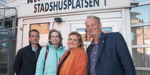 Daniel Adborn (L), Maria Gard Günster (C), Antronella Pirrone (KD) och Harry Bouveng (M).