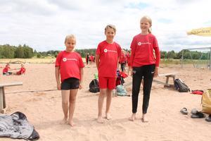 Rut, Noah och Hanna berättar att de har haft kul på campet.