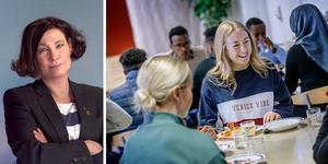 Liberalernas kommunalråd Karolina Wallström rasar mot Örebros skolmat: lättluncher med konstiga namn, skriver hon i ett Facebookinlägg. Eleven Olivia Bergström håller inte med.
